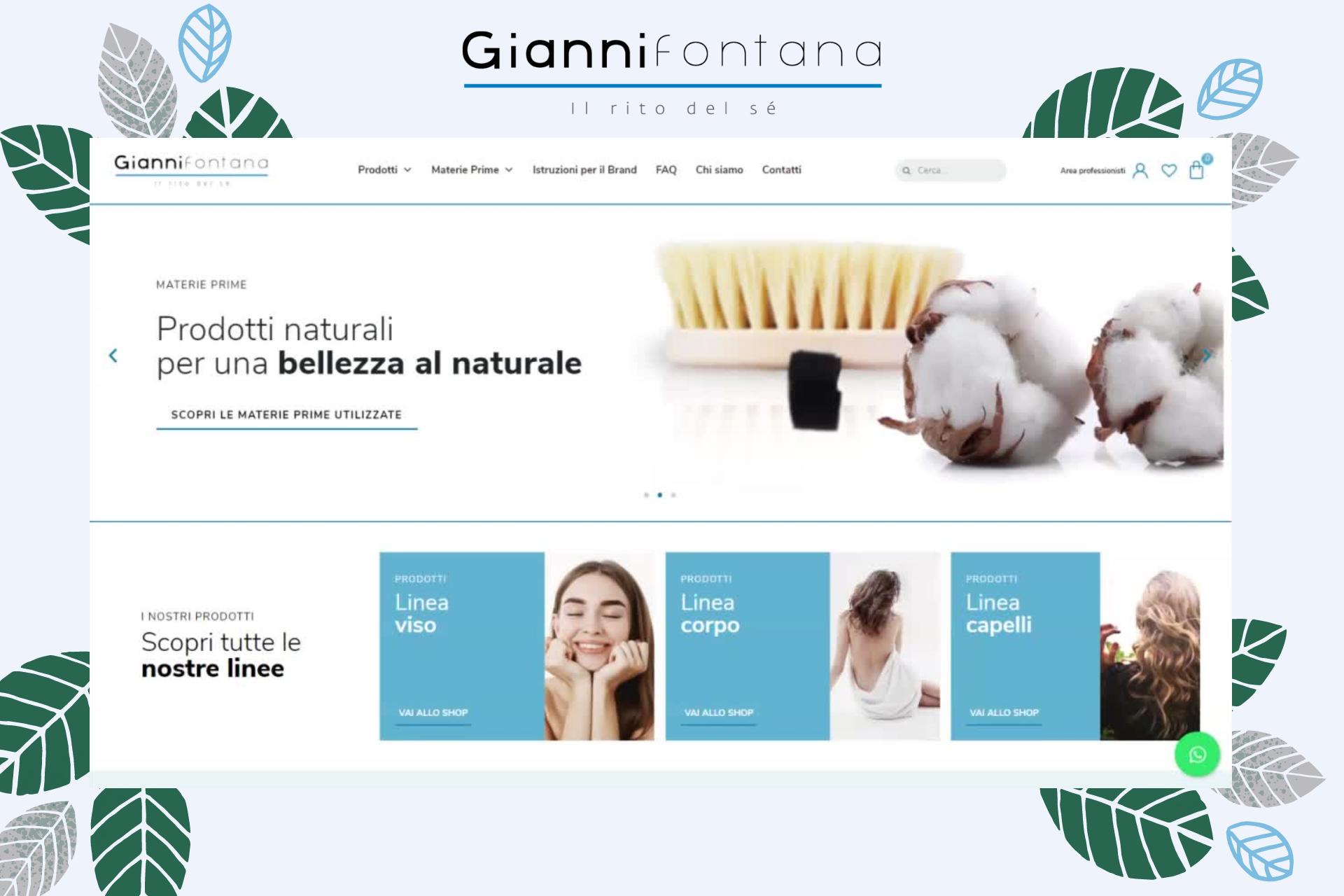 Sito web Gianni Fontana - Portfolio STweb